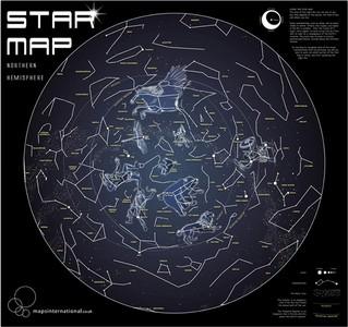 Star map glow in the dark/bestel per set 5425013069953