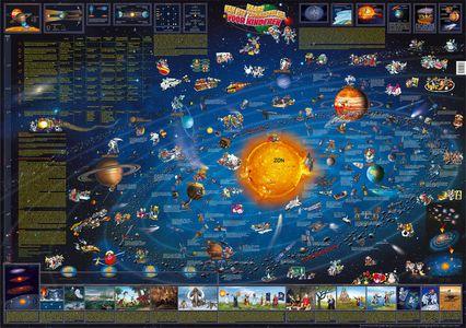 Dino's Zonnestelsel Kinderkaart wandkaart