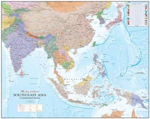 South East Asia Wall Map 1/7.5m Gm