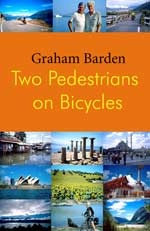 Two Pedestrians On Bicycles