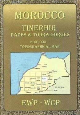 Tinerhir, Morocco Topographical Map 1:160.000