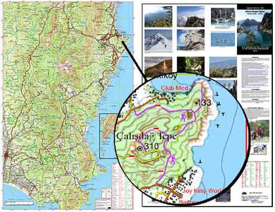 Eastern Lycia Topographic Tourist Map 1:54.000