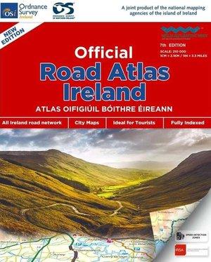 Ierland official road atlas spiraal