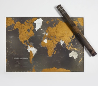 Welt zum Rubbeln black edition