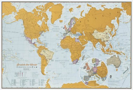 Scratch the World travel map