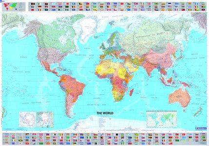 Michelin The World Plano Geplastificeerd