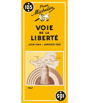 Voie De La Liberte - Michelin Historical Map 105