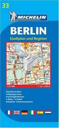 33 Michelin - Berlijn Stadsplattegrond - 1:22.000