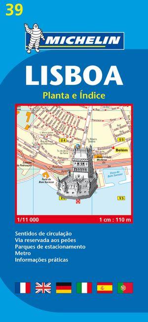 39 Michelin - Lisbon Stadsplattegrond