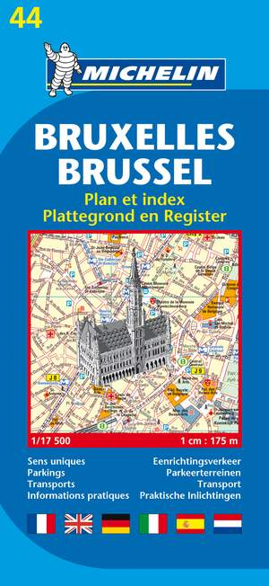 44 Michelin - Brussel Plattegrond