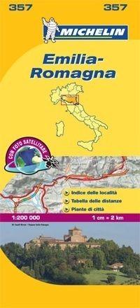 357 Michelin - Emilia Romagna Wegen- En Fietskaart - 1: 200.000