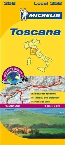 358 Michelin - Toscana Wegen- En Fietskaart - 1:200.000
