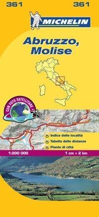 361 Michelin - Abruzzo Molise Wegen- En Fietskaart - 1:200.000