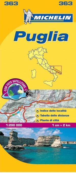 363 Michelin - Puglia Local Wegen- En Fietskaart- 1:200.000