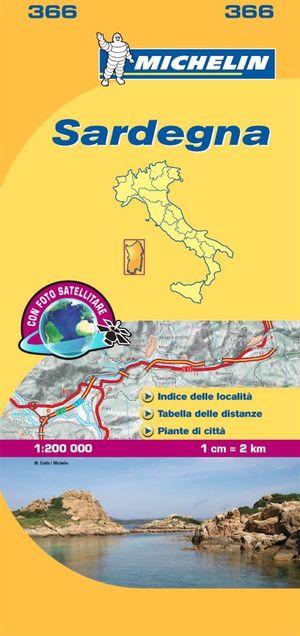 366 Michelin - Sardegna Wegen- En Fietskaart - 1:200.000