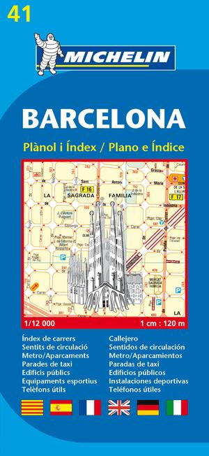 41 Michelin - Barcelona Stadsplattegrond