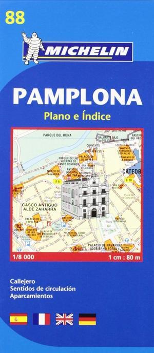 88 Michelin - Pamplona Stadsplattegrond -
