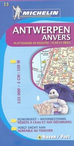 13 Michelin - Antwerpen Stadsplattegrond - 1:15.000