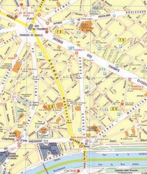 16 Michelin - Namen Stadsplattegrond -