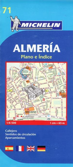 71 Michelin - Almeria Stadsplattegrond - 1:6.500