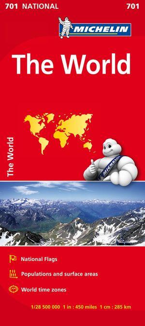701 Michelin The World Mapfolded