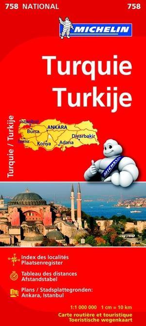 MICHELIN WEGENKAART 758 TURKIJE