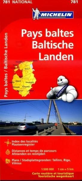 781 Michelin National - Pays Baltes/ Baltische Landen Landkaart Wegenkaart - 1:500.000
