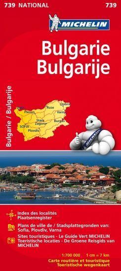 Michelin wegenkaart 739 Bulgarije