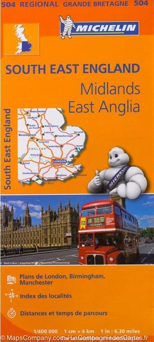 504 South East England, Midlands, East Anglia