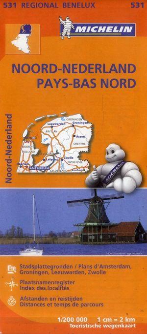 531 Michelin Regional - Noord-nederland Wegen- En Fietskaart -