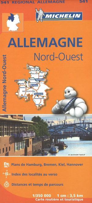 541 Michelin Regional - Duitsland Noord-west Wegenkaart Fietskaart / Duitsland - 1:350.000