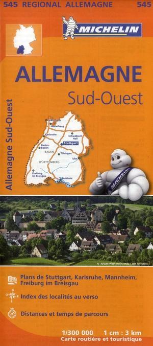 545 Michelin Regional - Duitsland Zuid-west Wegenkaart Fietskaart / Duitsland - 1:300.000
