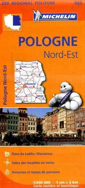 555 Michelin Regional - Polen Noord-oost Wegenkaart - 1:300.000