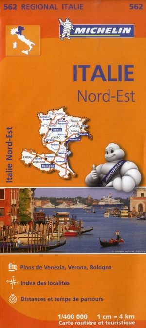 562 Michelin Regional - Italie Noord-oost Wegenkaart Fietskaart / Italie - 1:400.000