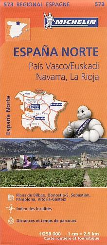 Michelin 573 Spanje Noord Pais Vasco