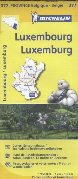 Luxemburg Luxembourg 1:150d Michelin 377