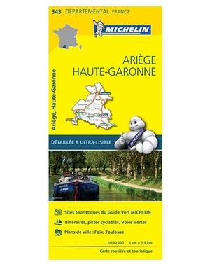 Ariege Haute Garonne 343 Michelin Local Franc