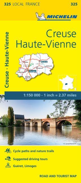 Creuse, Haute-vienne - Michelin Local Map 325