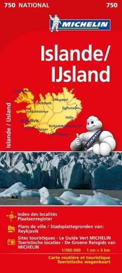 Ijsland 1:500.000 Michelin 750