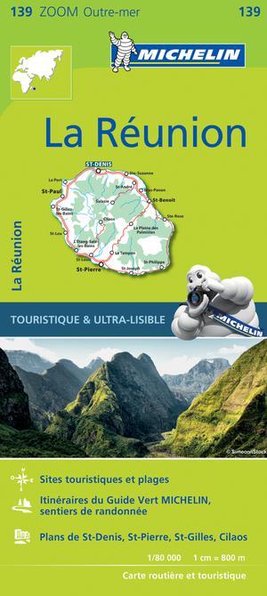 La Réunion landkaart - Michelin Zoom Map 139