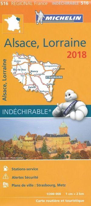 516 Michelin Alsace, Lorraine 1:200d 2018