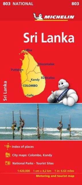 Sri Lanka National Map 803