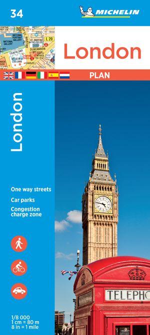 Londen stadsplattegrond Michelin 34