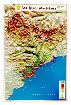 Alpes Maritimes Reliefkaart Georelief