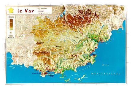 Var Reliefkaart Georelief