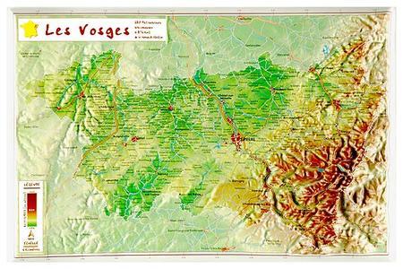 Vosges Reliefkaart Georelief