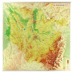 Lorraine 3d Reliefkaart Georelief