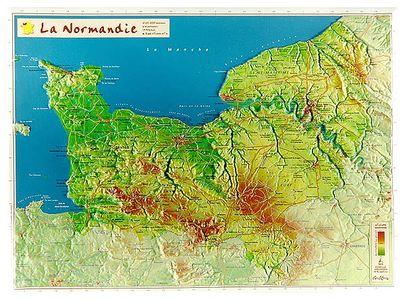 Normandie 3d Reliefkaart Georelief