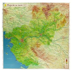 Pays De La Loire Reliefkaart Georelief