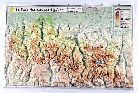 Pyrenees Np Reliefkaart Georelief